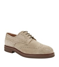Brunello Cucinelli Suede Brogues Male Beige