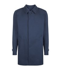 Corneliani Classic Wool Blend Raincoat Male Navy