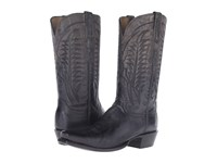 Lucchese Montgomery Anthracite Grey Cowboy Boots Gray