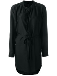 Ann Demeulemeester Belted Shirt Dress Black
