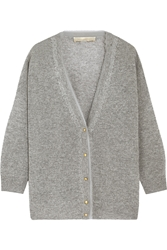 Vanessa Bruno Cebe Open Knit Wool And Cashmere Blend Cardigan