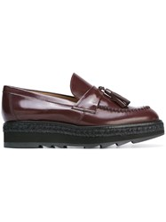 Castaner Platform Loafers Red