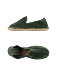 Manebi Espadrilles Emerald Green