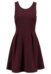Evenandodd Jersey Dress Dark Purple