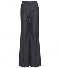 Valentino High Waisted Wide Leg Jeans Blue