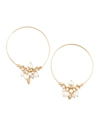 Ted Muehling Pearl Cluster Hoop Earrings
