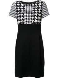 Tom And Linda Platt Plaid Front Dress Black