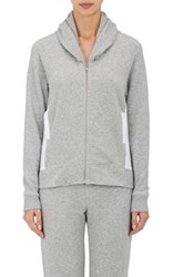 Skin Women's Stretch Cotton Zip Front Hoodie Grey