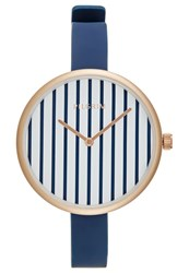 Pilgrim Watch Rose Goldcoloured Blue Dark Blue