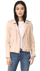 Rebecca Taylor Washed Leather Jacket Nude
