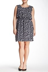Robbie Bee Polka Dot Dress Plus Size Black