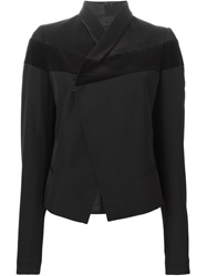 Haider Ackermann Velvet Stripe Fitted Jacket Black