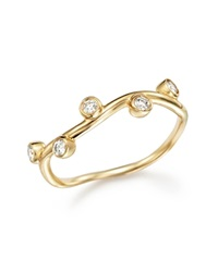 Bloomingdale's Diamond Bezel Set Band Ring In 14K Yellow Gold .16 Ct. T.W.