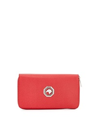 Zip Around Leather Travel Wallet Red Stefano Ricci