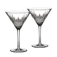 Waterford Lismore Diamond Martini Glasses Set Of 2