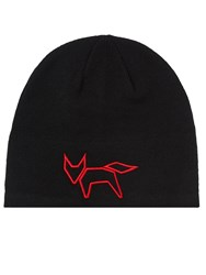 Wolsey Fox Wool Beanie Hat Black