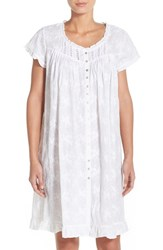 Women's Eileen West Embroidered Cotton Robe
