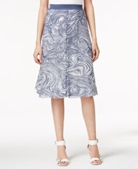 Alfani Printed A Line Midi Skirt Only At Macy's Marble Layers