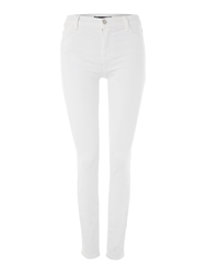 J Brand 811 Mid Rise Skinny Jeans In Blanc White