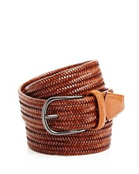 Andersons Anderson's Leather Braid Belt Light Brown