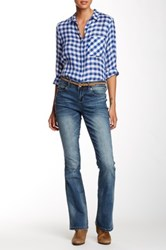 7 For All Mankind Embroidered Flap Pocket Blue