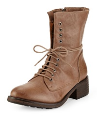Modern Vintage Jaya Leather Lace Front Boot Foggy