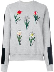 Steve J And Yoni P Embroidered Sweatshirt Grey