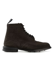 Church's Brogue Detailing Lace Up Boots Grey