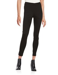 Lord And Taylor Petite Seamed Ponte Leggings Black