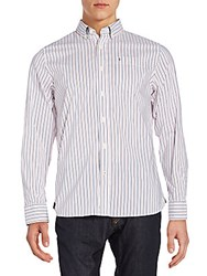 Victorinox Tailored Fit Gravity Striped Sportshirt Ribbon Red