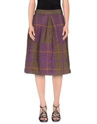 Erika Cavallini Semi Couture Erika Cavallini Semicouture Skirts Knee Length Skirts Women Purple