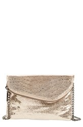 Hobo 'Daria' Leather Crossbody Bag Metallic