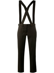 Ashley Williams Braced Slim Fit Overalls Brown