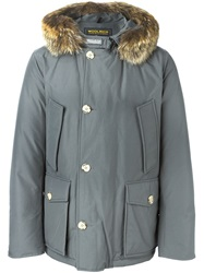 Woolrich Fox Fur Trimmed Parka Grey