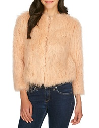 1 State Faux Fur Jacket Amberwood