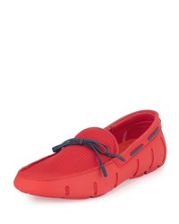 Braided Bow Water Resistant Loafer Red Blue Swims