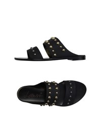 Lanvin Footwear Slippers Women Black