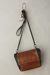 Anthropologie Ayla Colorblock Satchel Brown Motif