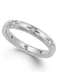 Star By Marchesa Diamond Star Wedding Band In 18K White Gold 1 8 Ct. T.W.