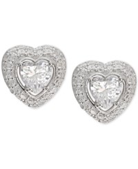 Giani Bernini Cubic Zirconia Heart Cluster Stud Earrings In Sterling Silver Only At Macy's