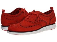 Cole Haan Zerogrand Wing Ox Poppy Suede Men's Lace Up Wing Tip Shoes Orange