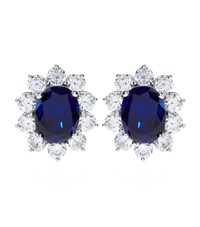 Carat 2Ct Fancy Oval Sapphire Stud Earrings Female