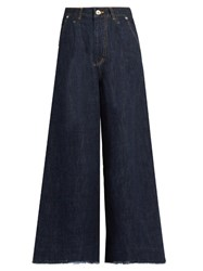 Muveil Bow Pockets Wide Leg Jeans Indigo