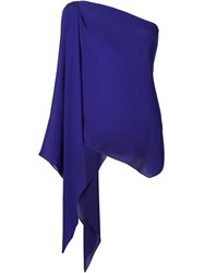Plein Sud Jeans Plein Sud One Shoulder Draped Top Pink And Purple