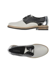 Vic Lace Up Shoes Ivory
