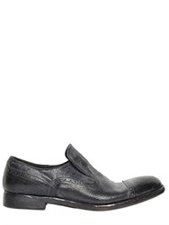 Alberto Fasciani Washed And Polished Leather Loafers