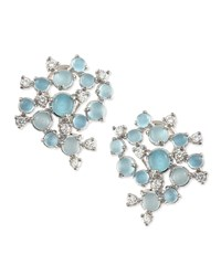 Aquamarine And White Diamond Bubble Cluster Earrings Paul Morelli White Pink