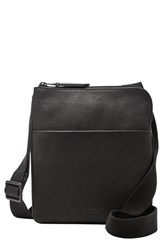 Men's Fossil 'Estate' Leather Crossbody Bag Black