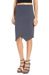 Leith Women's Wrap Style Pencil Skirt