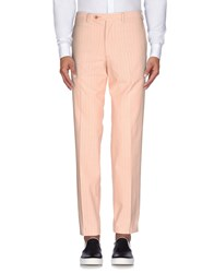 Canali Trousers Casual Trousers Men Salmon Pink